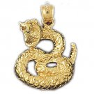 14K GOLD CHARM - SNAKE #2411