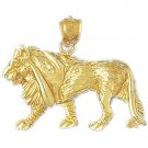 14K GOLD ANIMAL CHARM - LION #1694