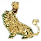14K GOLD ANIMAL CHARM - LION #1686