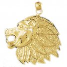14K GOLD ANIMAL CHARM - LION #1669