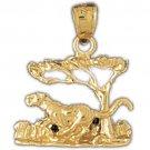 14K GOLD ANIMAL CHARM - PANTHER #1729