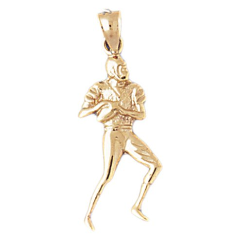14K GOLD SPORT CHARM - FOOTBALL PLAYER # 3192