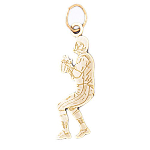 14K GOLD SPORT CHARM - FOOTBALL PLAYER # 3193