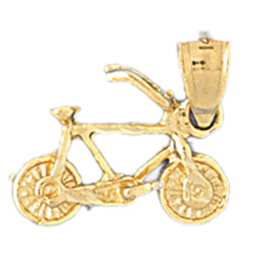 14K GOLD SPORT CHARM - CYCLING #3660