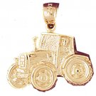 14K GOLD CONSTRUCTION CHARM - TRACTOR # 4308