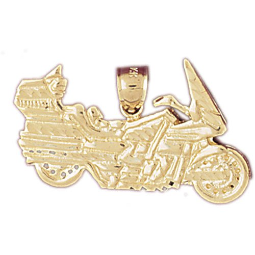 14K GOLD TRANSPORTATION CHARM - MOTORCYCLE #4406