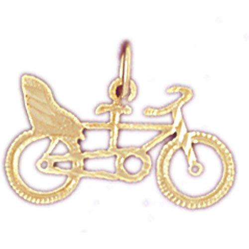 14K GOLD TRANSPORTATION CHARM - MOTORCYCLE #4405