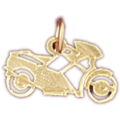 14K GOLD TRANSPORTATION CHARM - MOTORCYCLE #4404