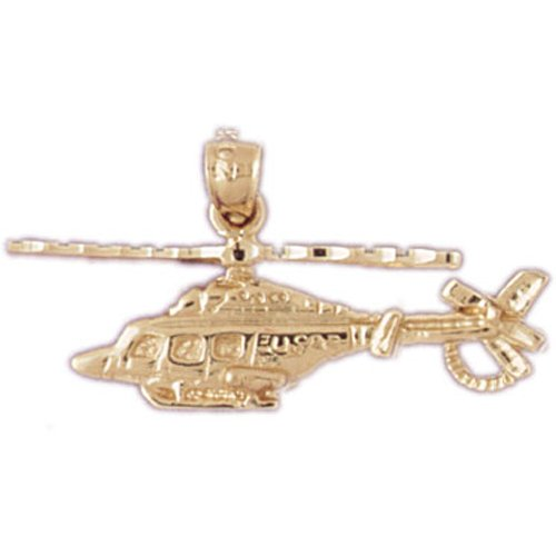 14K GOLD CHARM - HELICOPTER #4462
