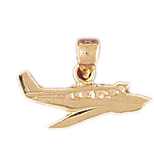 14K GOLD CHARM - AIRPLANE #4434