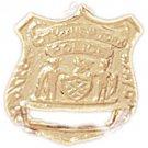 14K GOLD CHARM - POLICE BADGE #4592