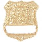 14K GOLD CHARM - POLICE BADGE #4591