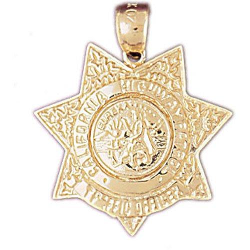 14K GOLD CHARM - POLICE BADGE #4579