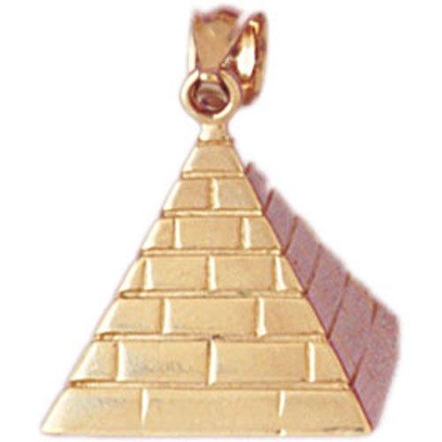 14K GOLD EGYPTIAN CHARM - PYRAMID #4779