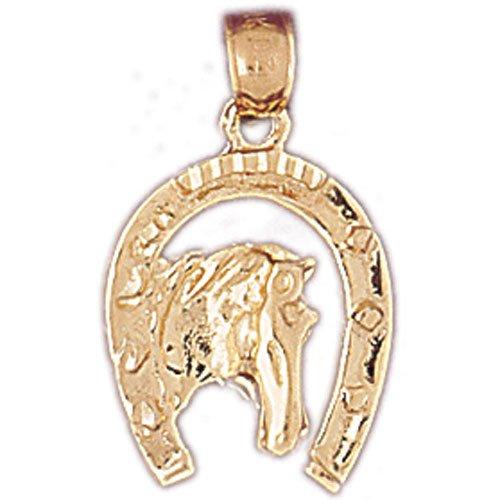 14K GOLD WESTERN CHARM - HORSESHOE #5145