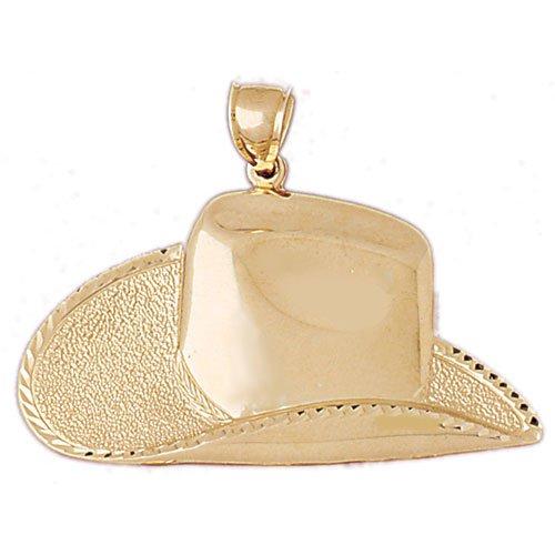 14K GOLD WESTERN CHARM - COWBOY HAT #5165