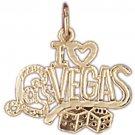 14K GOLD GAMBLING CHARM - I LOVE LAS VEGAS #5394