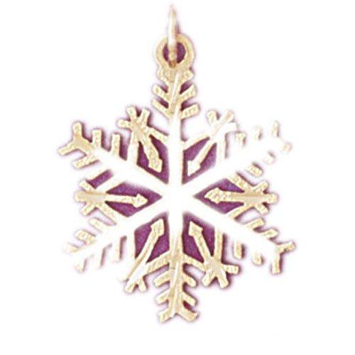 14K GOLD CHRISTMAS CHARM - SNOWFLAKE #5525