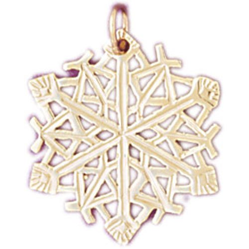 14K GOLD CHRISTMAS CHARM - SNOWFLAKE #5515