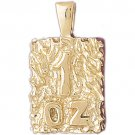 14K GOLD NUGGET CHARM #5762