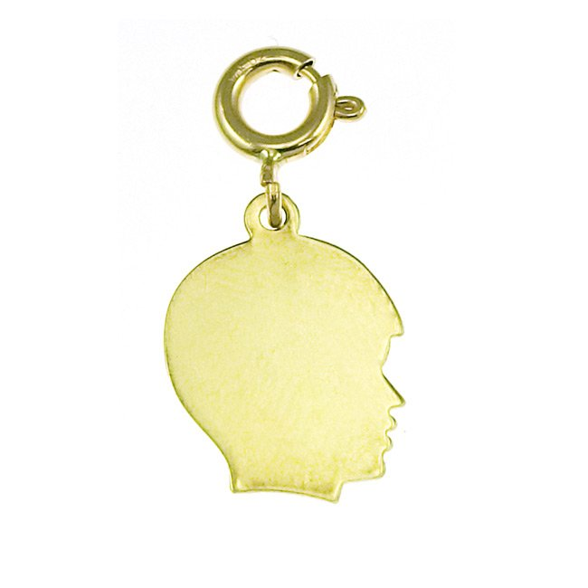 14K GOLD SILHOUETTE CHARM - SIDEVIEW #5835
