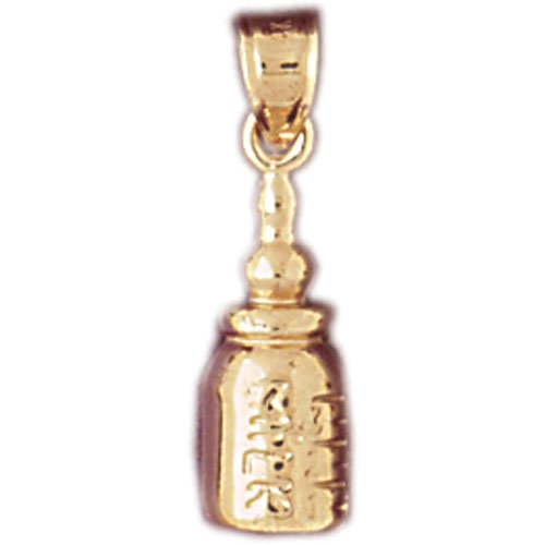 14K GOLD BABY CHARM - NURSING BOTTLE #5917