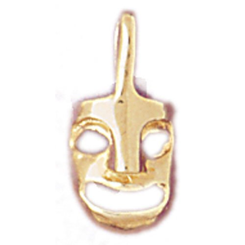 14K GOLD MISCELLANEOUS CHARM - DRAMA MASK #6099