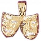 14K GOLD MISCELLANEOUS CHARM - DRAMA MASK #6095