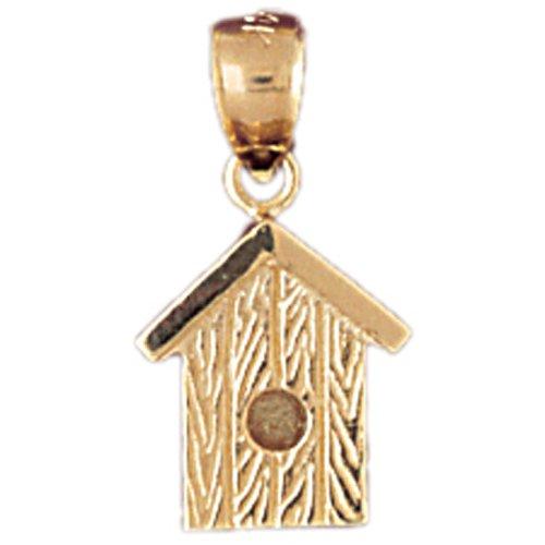 14K GOLD CHARM - BIRD HOUSE #7004