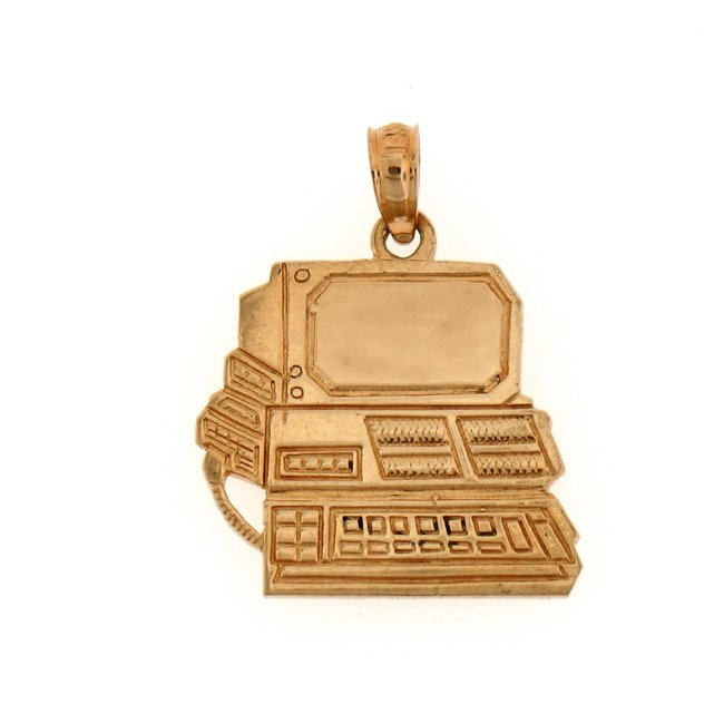 14K GOLD OFFICE CHARM - COMPUTER #6437