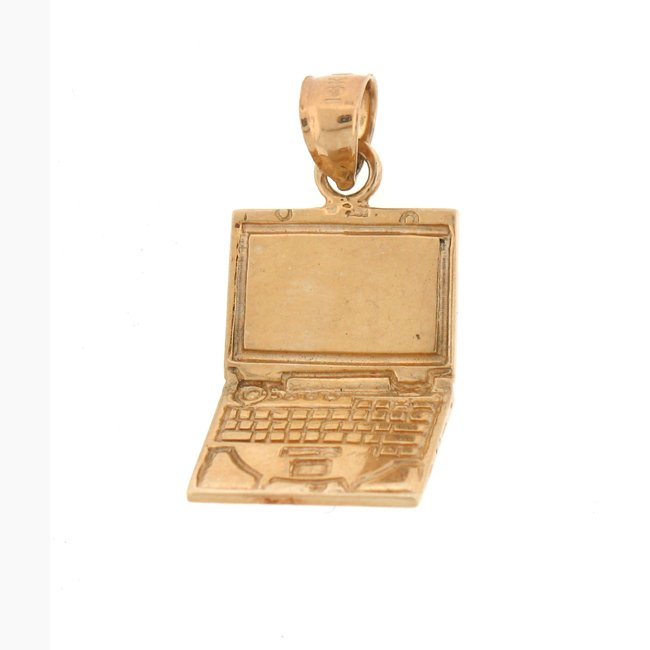 14K GOLD OFFICE CHARM - COMPUTER #6436