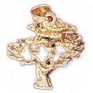 14K GOLD TREE CHARM #6824