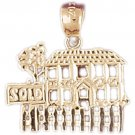 14K GOLD CHARM - HOUSE #6978