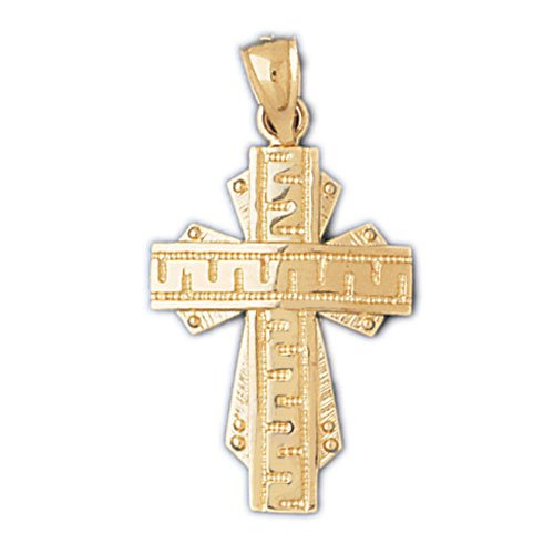 14K GOLD RELIGIOUS CHARM - CROSS #8057