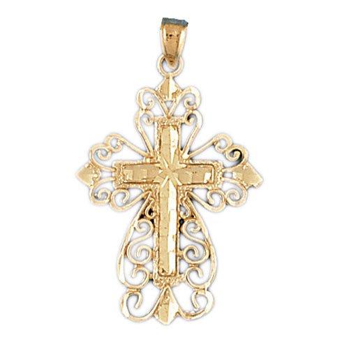 14K GOLD RELIGIOUS CHARM - CROSS #7902