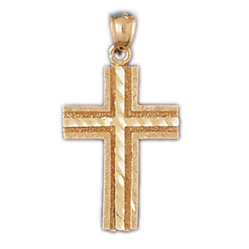 14K GOLD RELIGIOUS CHARM - SMALL CROSS #8222