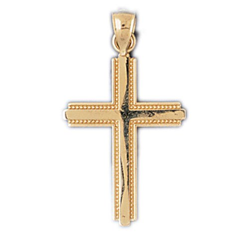14K GOLD RELIGIOUS CHARM - SMALL CROSS #8218
