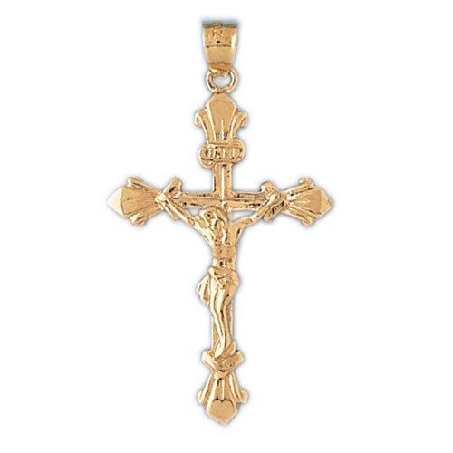 14K GOLD RELIGIOUS CHARM - CRUCIFIX #8497