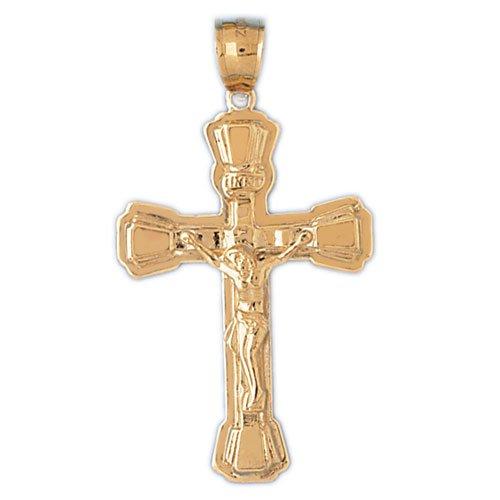 14K GOLD RELIGIOUS CHARM - CRUCIFIX #8496