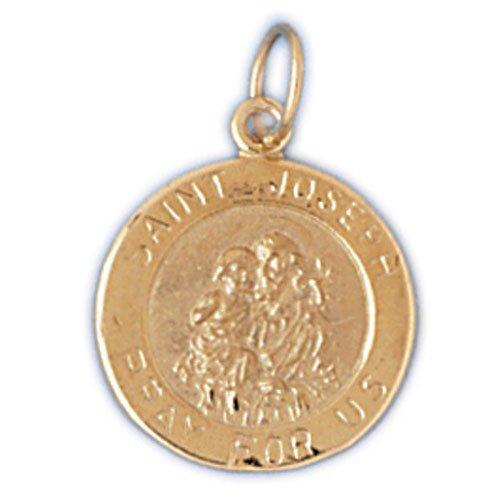 14K GOLD RELIGIOUS CHARM - ST. JOSEPH #8794