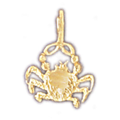 14K GOLD ZODIAC CHARM - CANCER #9335