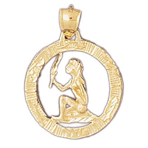 14K GOLD ZODIAC CHARM - VIRGO #9397