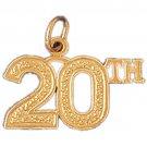 14K GOLD SAYING CHARM - 20th #9687