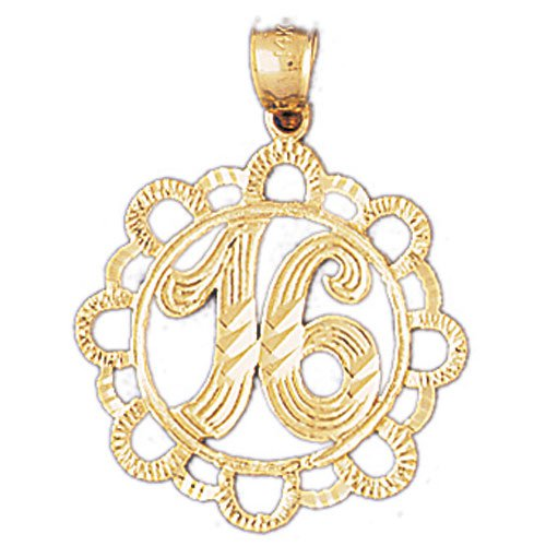 14K GOLD SAYING CHARM - 16 #9683