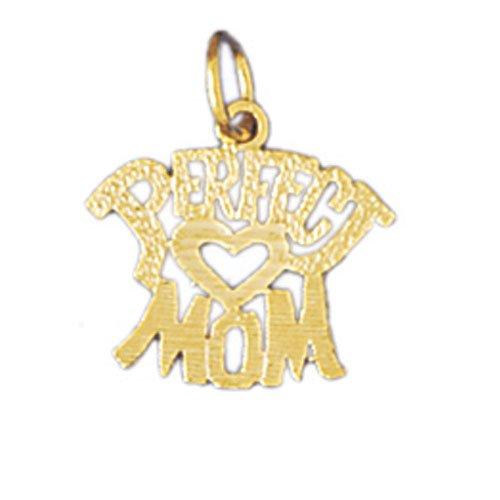 14K GOLD SAYING CHARM - PERFECT MOM #9835
