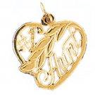 14K GOLD SAYING CHARM - #1 AUNT #9986