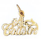 14K GOLD SAYING CHARM - #1 COUSIN #9983