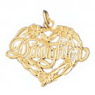 14K GOLD SAYING CHARM - DAUGHTER #9919
