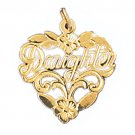 14K GOLD SAYING CHARM - DAUGHTER #9907
