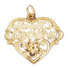 14K GOLD SAYING CHARM - SWEET GRANDMA #10044